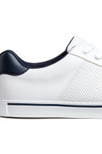 Perforated trainers - White - Men | H&M 4